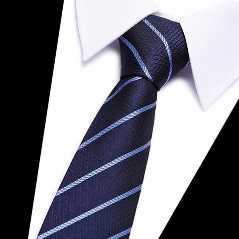 Classic 100% Silk Mens Ties New Design Neck Ties 8cm Plaid&Striped Ties for Men Formal Business Wedding Party Gravatas Karachi