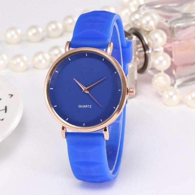 סיליקון עסקי גבירותיי שעוני יד טמפרמנט יפה גבירותיי מזכרות נשים של קוורץ שעון פשוט אופנה בנות 2018 # D