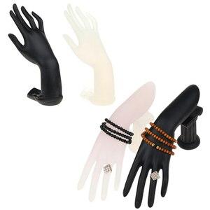 Nowy czarny i matowy biały kobiet manekinów biżuteria ręczna wyświetlacz manekin realistyczne kobiece manekin ręcznie na pierścień bransoletka klucz