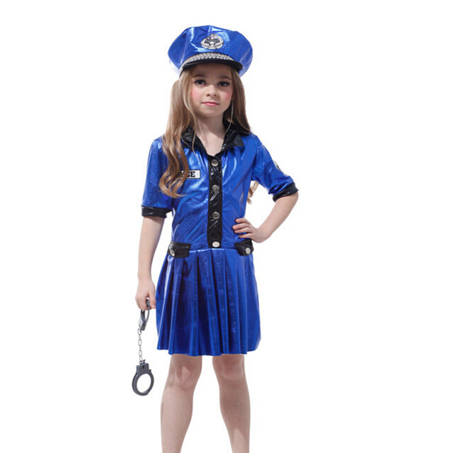 Girls Policewoman Costume Cosplay Masquerade Carnival Childrenu0027s Blue Policewoman Uniform Halloween Costumes in Performance Show  sc 1 st  AliExpress.com & Girls Policewoman Costume Cosplay Masquerade Carnival Childrenu0027s ...