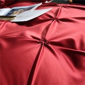 Image 4 - LOVINSUNSHINE 寝具セット高級米国キングサイズのシルク布団カバーセットクイーンベッド布団セット AC05 #