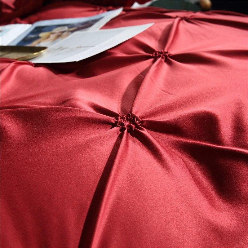 Image 4 - LOVINSUNSHINE Bedding Set Luxury US King Size Silk Duvet Cover Set Queen Bed Comforter Sets AC05#-in Bedding Sets from Home & Garden