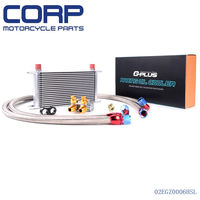 GPLUS 19 ROW Thermostat Adaptor Engine Racing Oil Cooler Kit For CAR/TRUCK SL