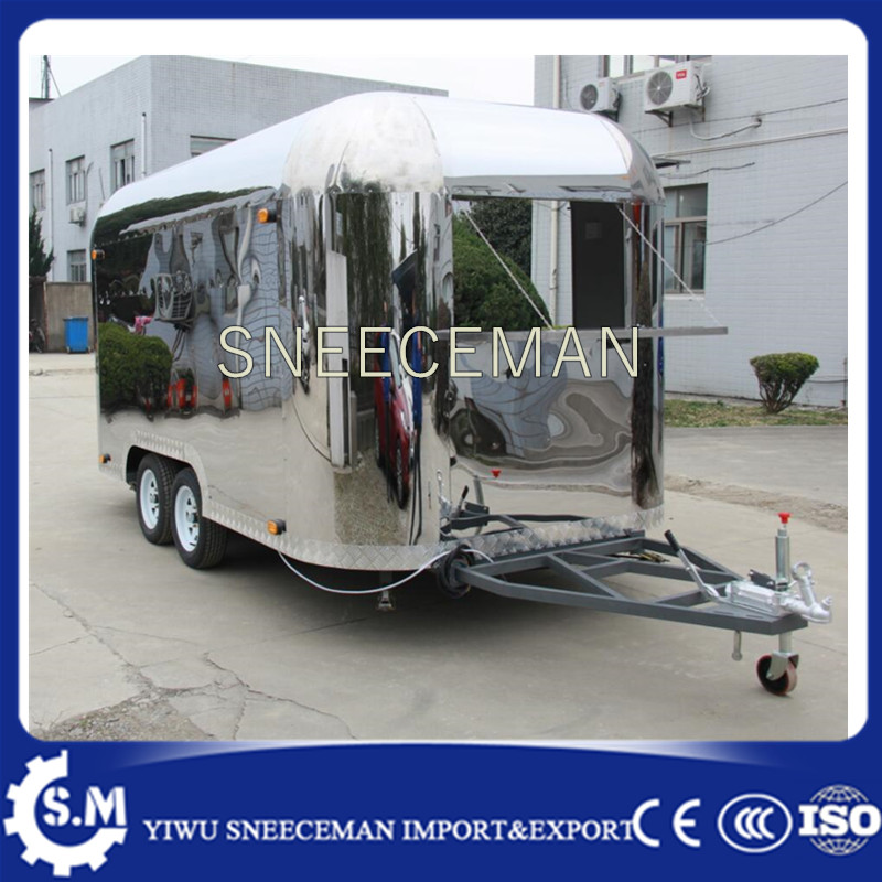 Food Cart Trailer Truck Rolled Fried Ice Cream Machine Most Popular Used In Food Cart