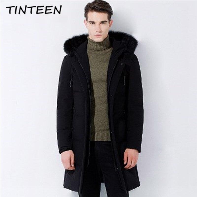 bb06b929586 TINTEEN Russia Winter Men Casual 90% White Duck Down Cotton Jacket Men s  Down Cotton Coats Warm Jackets Plus Size Overcoat GC412-in Parkas from  Men s ...