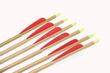 Longbowmaker 12PCS 33 Inches Fiberglass Target Practice Arrows WFG1