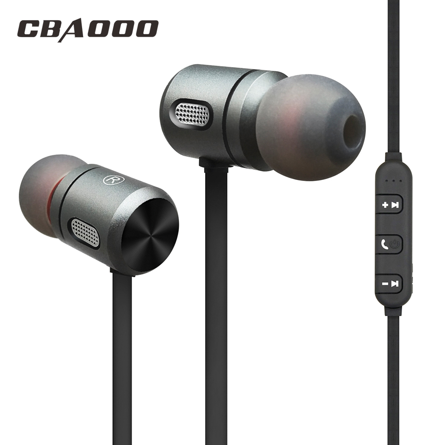 CBAOOO Sport Wireless Earphones Stereo music Bluetooth Earphone with Mic In-ear Headsets for iPhone Sony Samsung Xiaomi wireless neckband style earphone sport bluetooth in ear headphone stereo headest with mic for iphone samsung htc lg sony earbuds