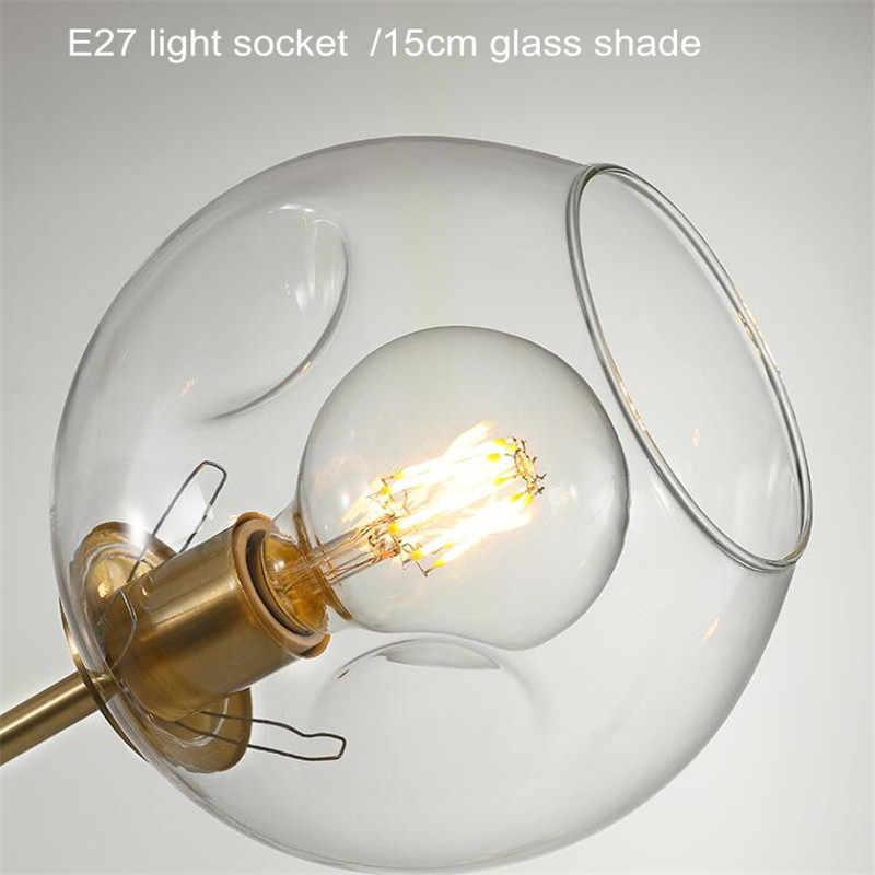 Скандинавское стекло led Люстра Освещение Современный шар подвесной светильник для столовой кухни люстры Потолочная люстра светильник