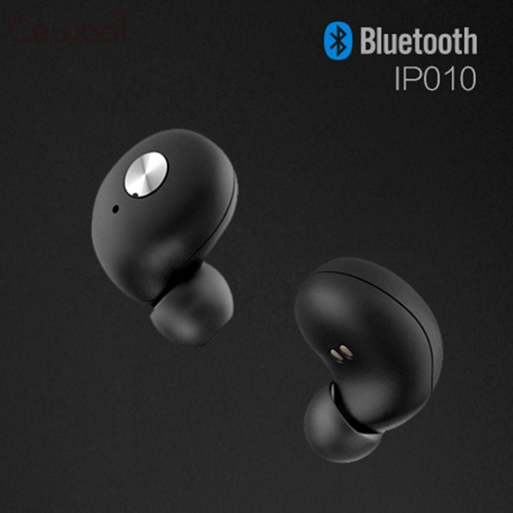 Cewaal Hot Mini True Wireless Bluetooth Double Twins Stereo In-Ear Headset Earphone Handsfree for iPhone Samsung Xiaomi 2 Color