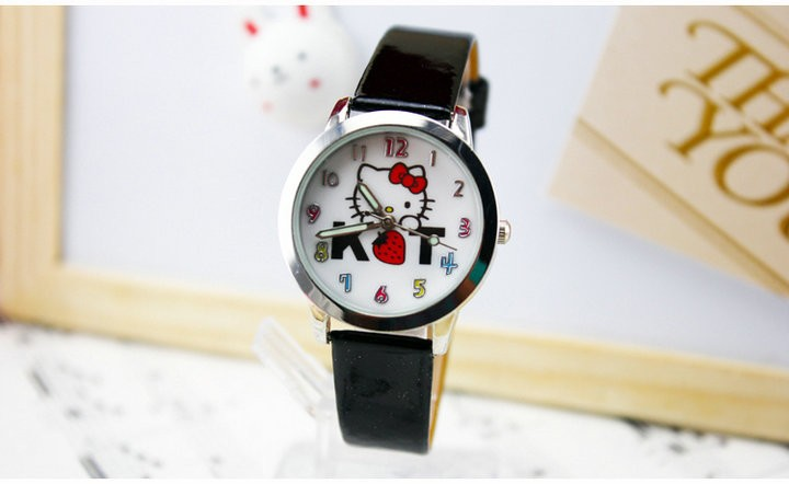 2016 New Brand Fashion Kids Leather Strap Quartz Cartoon