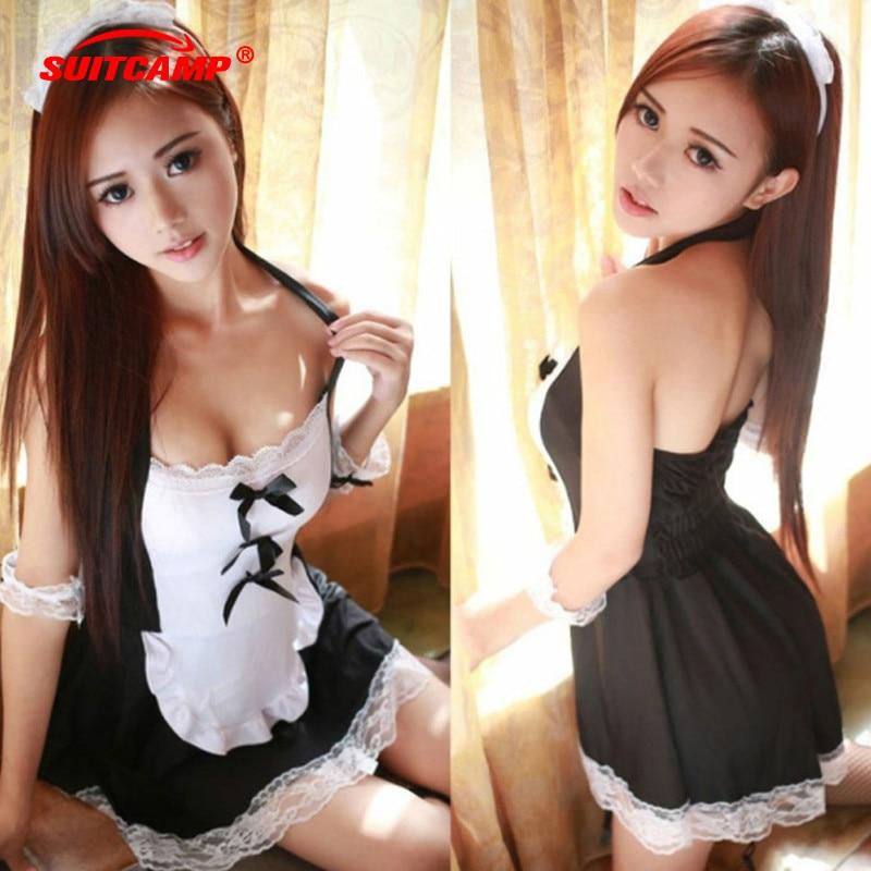 1Set Sexy Maid Sports Bra Lace Top Fitness Underwear Uniform Suit Wear For Women Gym Yoga Exposure Seducing Men