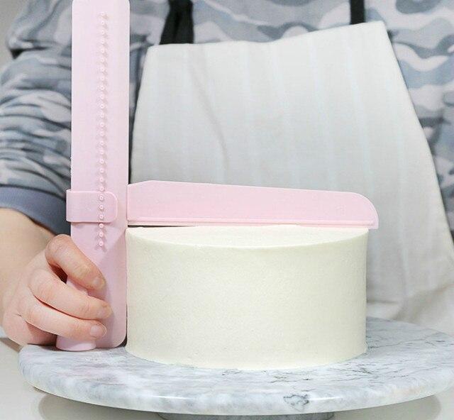 Bánh Scraper Mượt Mà Có Thể Điều Chỉnh Fondant Spatulas Bánh Cạnh Mượt Mà Kem Trang Trí DIY Bakeware Bộ Đồ Ăn Nhà Bếp Bánh Công Cụ