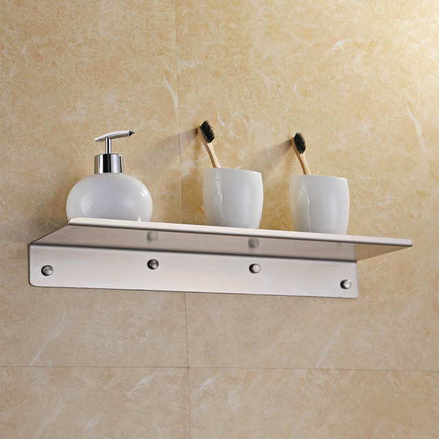 Kes Bathroom Shower Shelf Stainless Steel 45 Cm Caddy Bath Kitchen Floating 1 8 Mm Extra Thick Brushed Bsc210s45 2 In Shelves From