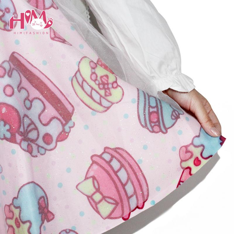 Soft Sister Lolita Short Skirts Japan Fashion Lady Tutu Skirt CakeStrawberry Cute High Waist Girls Gauze  Chiffon Skirt Female 6