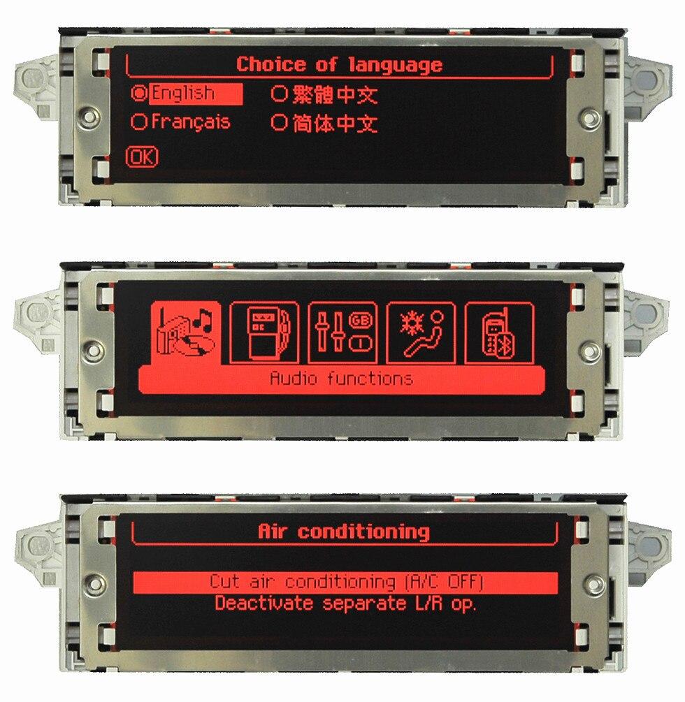 Écran rouge Support d'origine USB double zone air Bluetooth moniteur d'affichage 12 broches pour Peugeot 307 407 408 citroën C4 C5