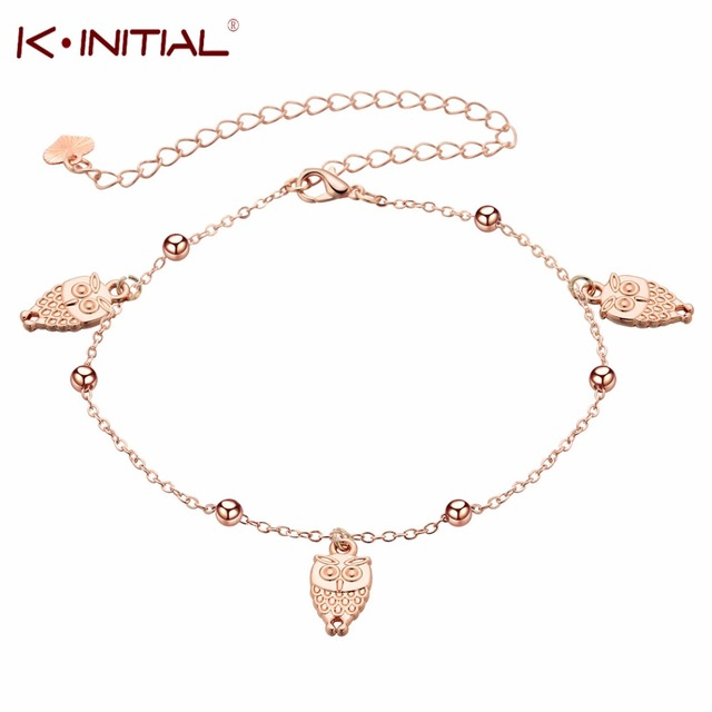Animal Owl Charm Anklets Bracelets For Women Barefoot Sandals Gold Foot Chain Jewelry Fashion Bird