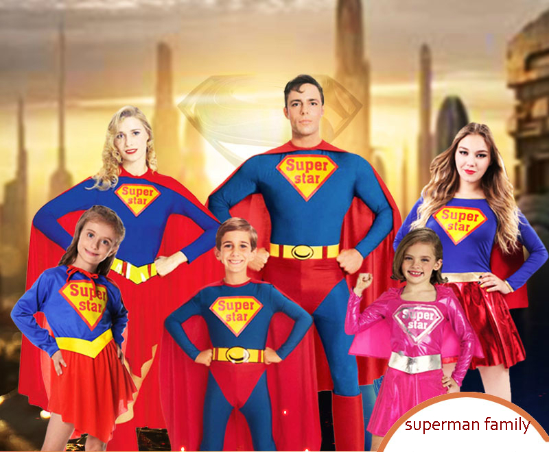 Halloween Costume Superman Supergirl Children Adult Family Cosplay Clothes Boys Girls Cosplay Costumes  sc 1 st  AliExpress.com & Halloween Costume Superman Supergirl Children Adult Family Cosplay ...