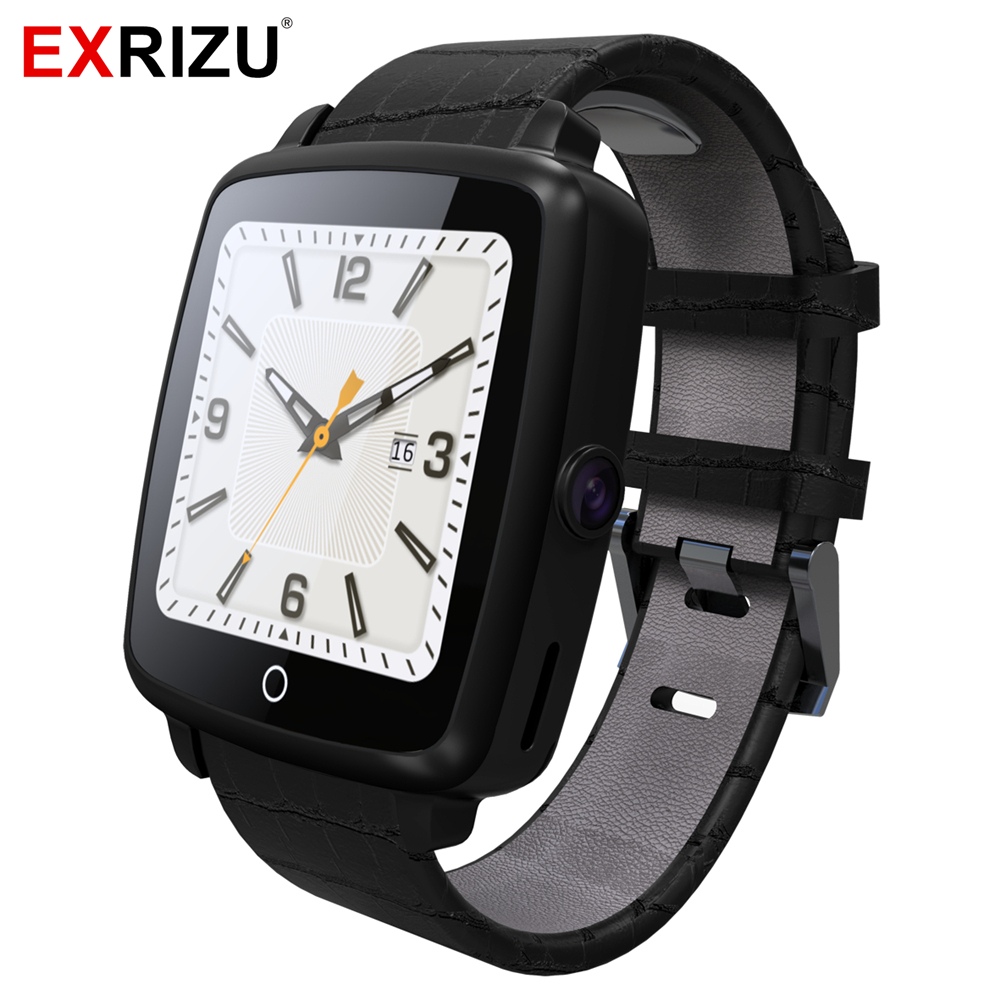 Original EXRIZU U11C Smartwatch Leather Strap Support Nano SIM & TF Card Bluetooth Connected Smart Watch for iOS Android Phone
