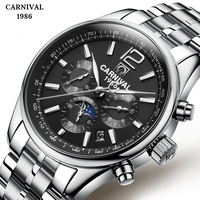 2019 New Automatic Self Wind Mens Watches Casual Waterproof Clock Mens Fashion Mechanical Watches For Man Clock Full Steel
