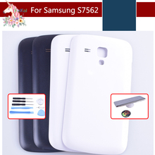 For Samsung Galaxy Trend Duos S7562 7562 S7560 7560 Housing Battery Cover Door Rear Chassis Back Case Housing Replacement lychee grain style protective abs back case for samsung galaxy trend duos s7562 s7560 white