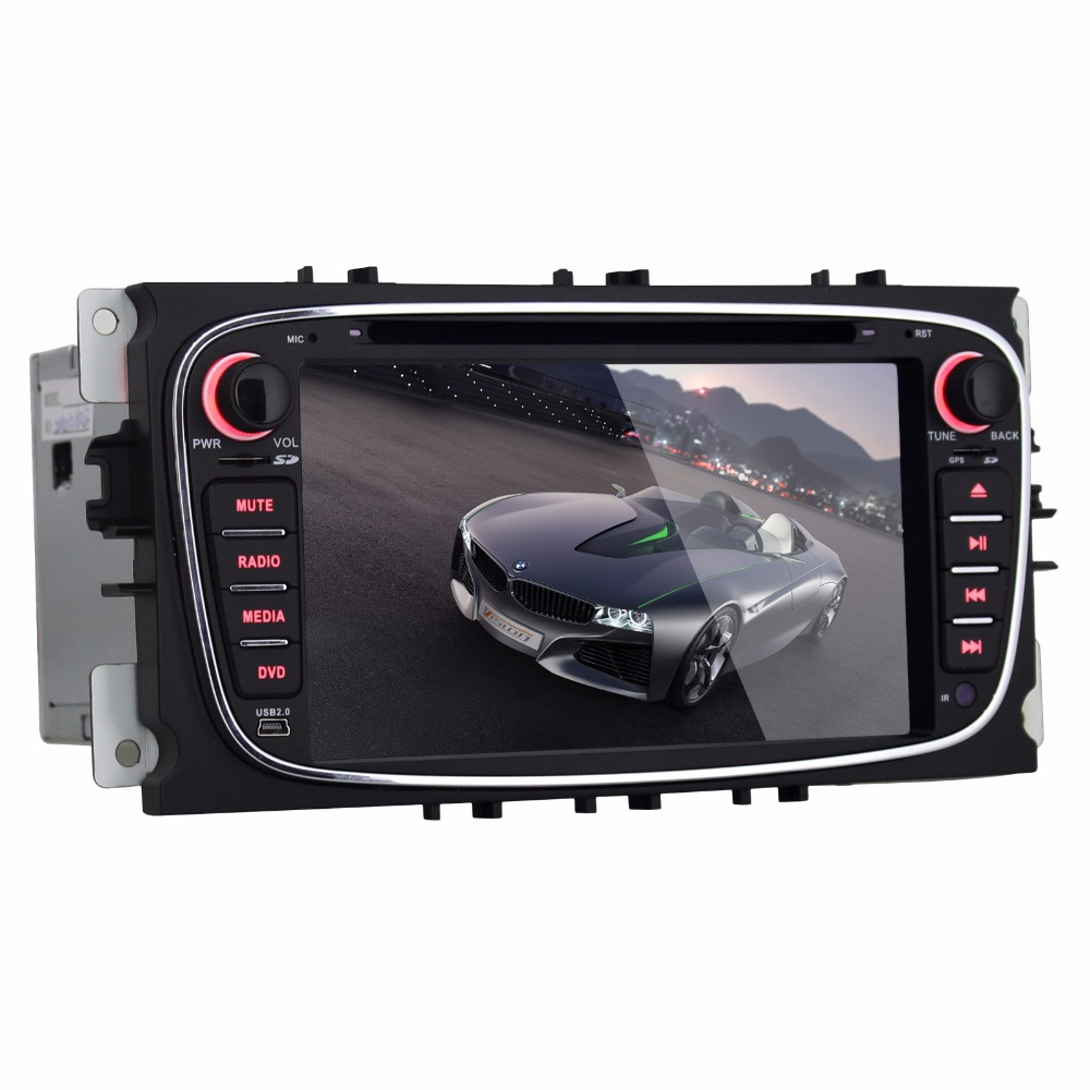 Beiinle Android 4.4.4  GPS Navigator DVD Radio  QUAD CORE 16G 2 Din Car 1024*600   for Ford Focus Mondeo S-max C-max Galaxy