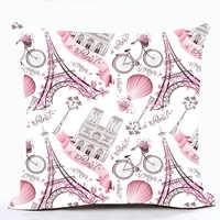 Rosa Lolita Stil Romantische Frankreich Eiffelturm Paris Sofa Kissen Abdeckungen Für Auto Stuhl Werfen Kissen Fall Housse De Coussin