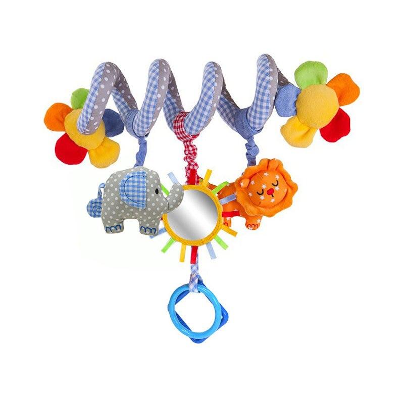 Новонароджені дитячі коляски Іграшки Слон Лев Модель Дитяче ліжко Висячі Освітні брязкальця Іграшки з музикою Bell BB Безпечні окуляри