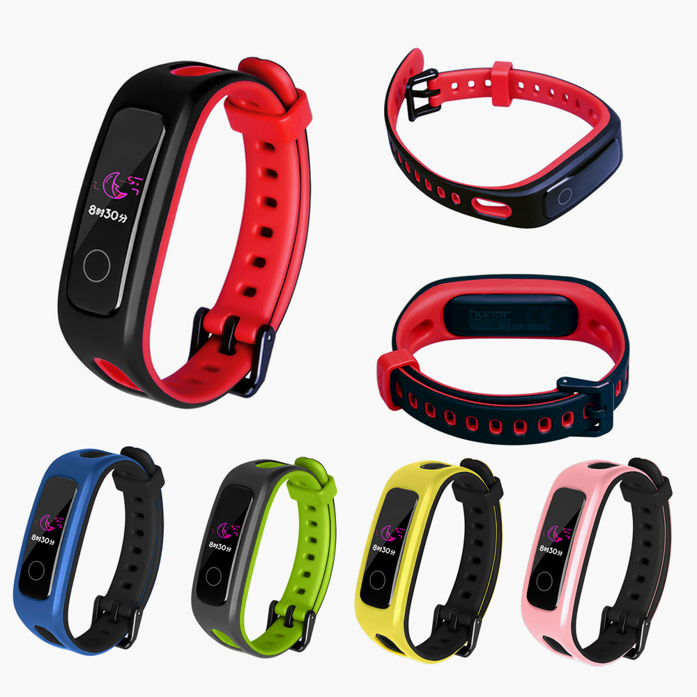 Bracelet For Huawei Band 4E / 3E Smart Band Strap Silicone Wristband For Huawei Honor Band 4 Running Version Smart Accessories