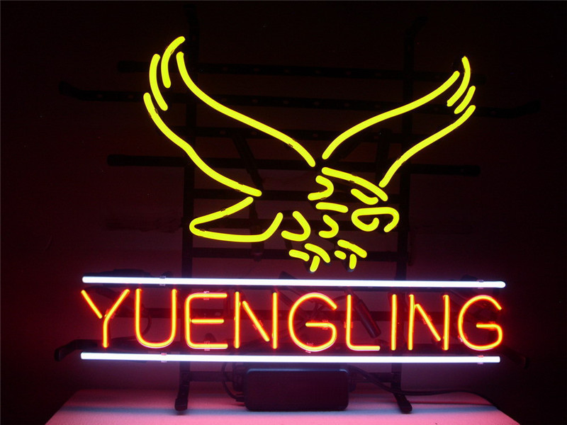 NEON SIGN For NEW YUENGLING LAGER EAGLE Signboard REAL