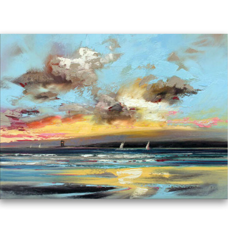 Us 50 4 20 Off Artist Hand Painted Good Quality Abstract Landscape Oil Painting On Canvas Handmade Abstract Sea And Sky Oil Paintings In Painting