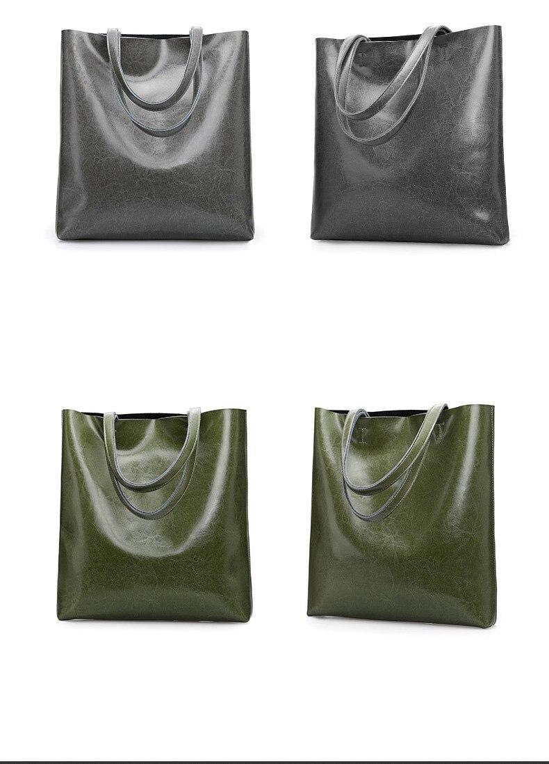Dienqi real genuíno bolsas de couro grandes