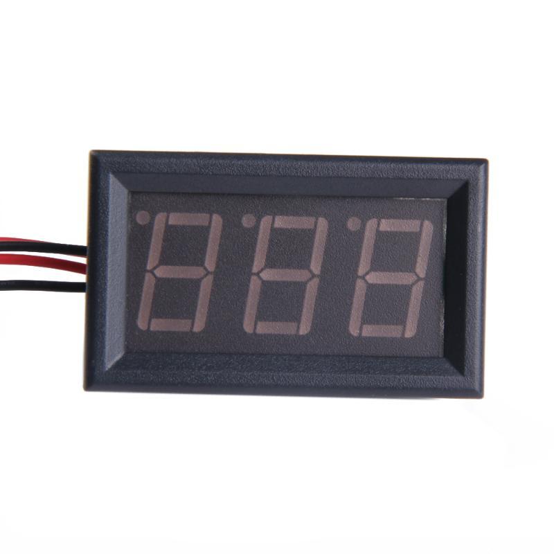 Цифровой амперметр постоянного тока, три провода 20A Красный Светодиодный Измеритель Панели Цифровой измеритель электрических параметров с...