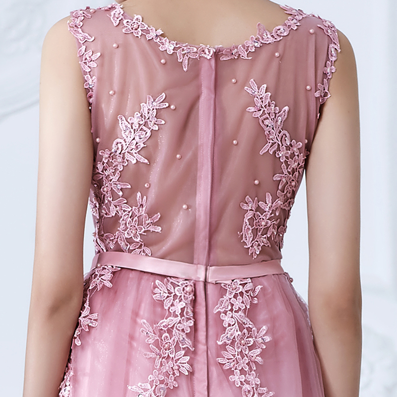 SOCCI vikend ružičasti appliques čipka til duga večernja haljina - Haljina za posebne prigode - Foto 6