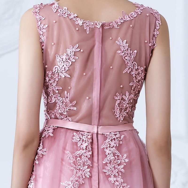 SOCCI Weekend Pink Appliques Lace Tulle Ұзақ Кешке - Ерекше жағдай киімдері - фото 6