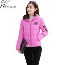 Wmwmnu solid color hooded short Parkas 2017 Women Slim female winter warm jacket women Design coat women's jacket ls509