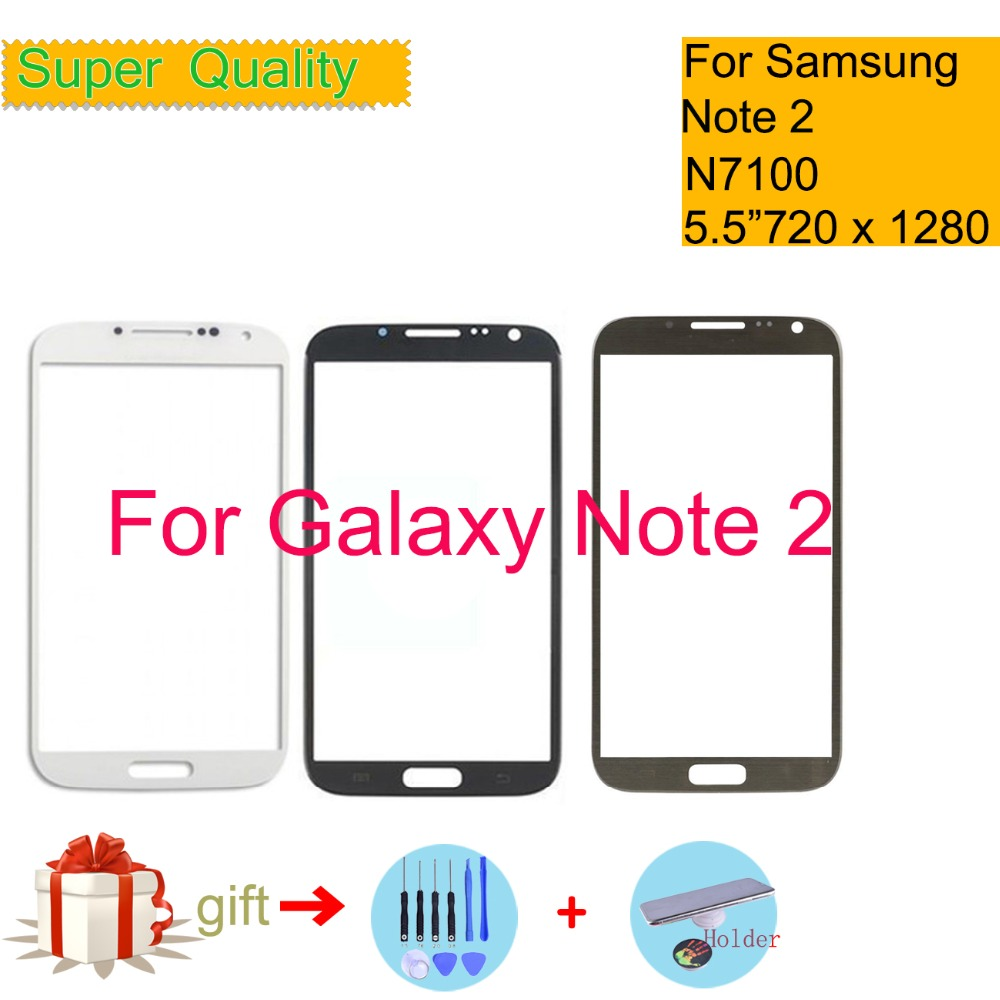 For Samsung Galaxy Note 2 II N7100 N7105 Touch Screen Front Glass Panel TouchScreen LCD Outer Lens 5.5 Replacement image