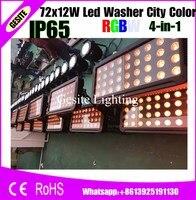 72 шт. 18 Вт яркий светодиодный Город Цвет IP65 водонепроницаемый мыть светодиодный свет наружного освещения