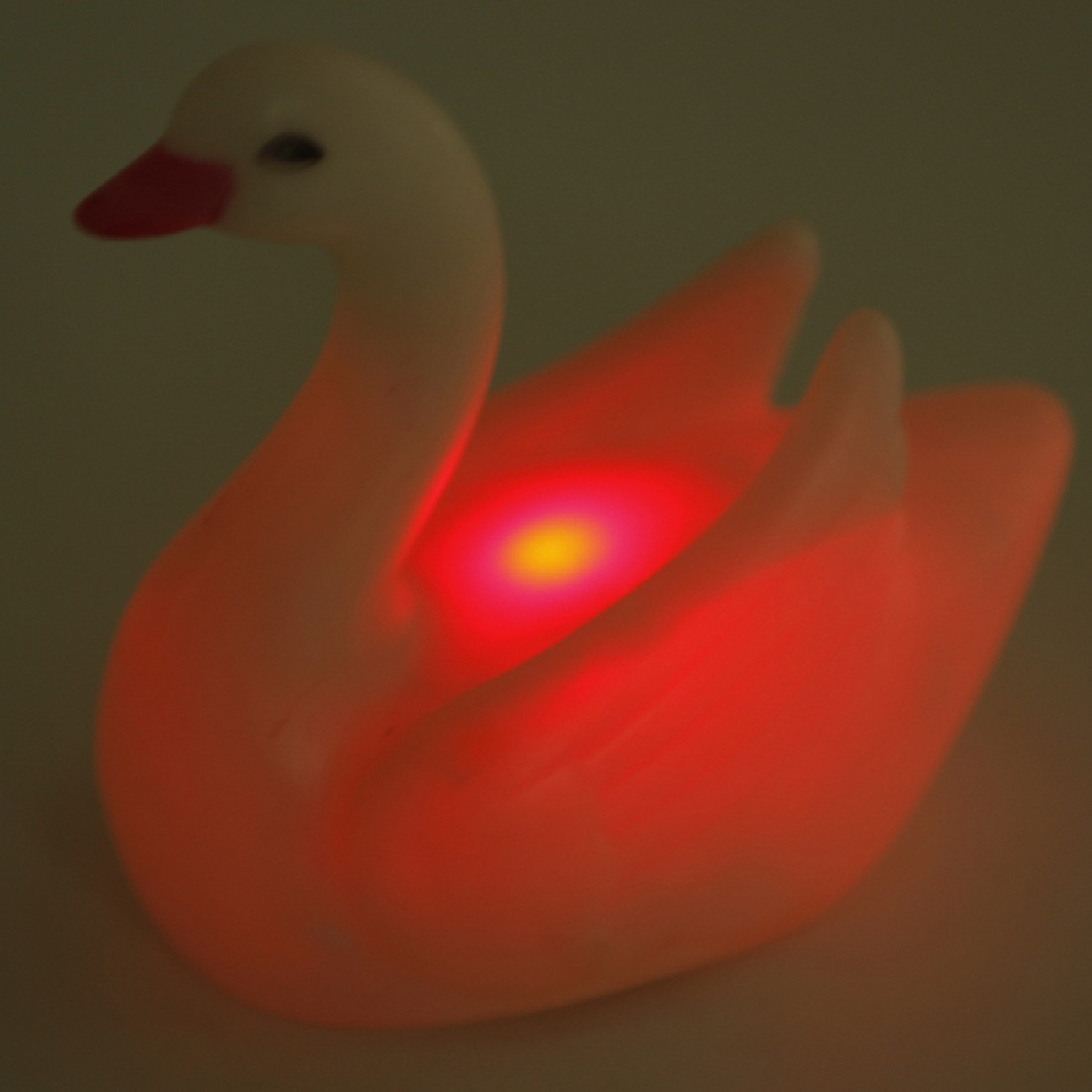 Newest Household LED Night Light Lamp Colorful Swan Shaped Flash Crystal Lamp For Bedroom Home Decor Free Shipping