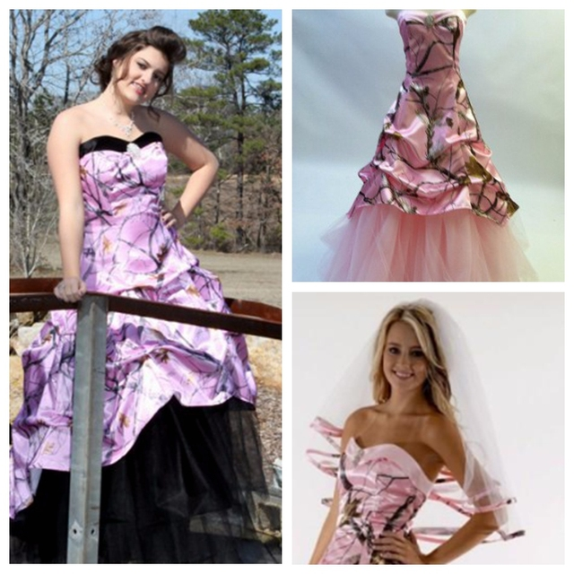 Pink Camo Plus Size Dresses