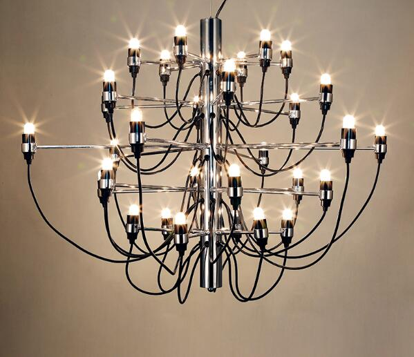 Multiple Chandelier Lighting personality simple dining room chandelier lamp Chinese iron plating Nordic summer ZX48