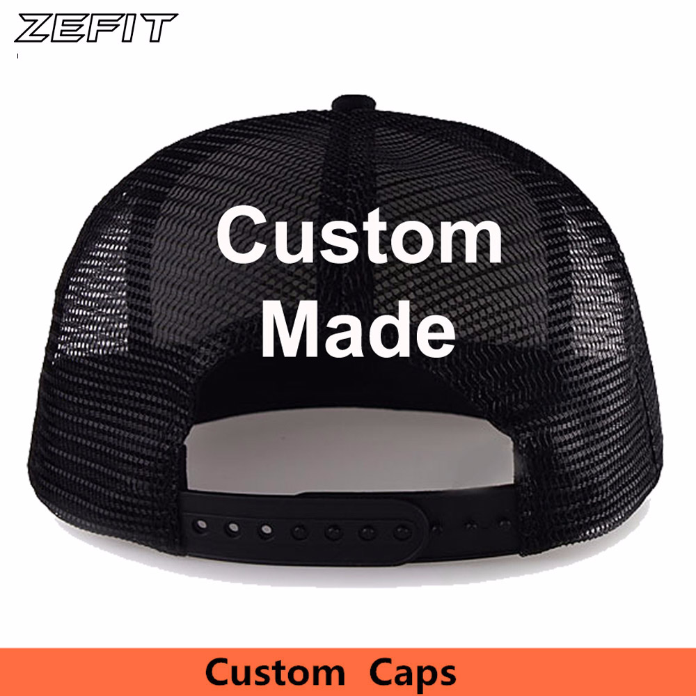 Custom Own Design Classic Trucker Hats Free Embroidery Printing Logo Adult Kids Size Flat Bill USA Mesh Outdoor Baseball Caps