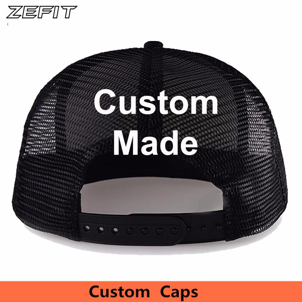 c9c02b08d07 Custom Own Design Classic Trucker Hats Free Embroidery Printing Logo Adult  Kids Size Flat Bill USA