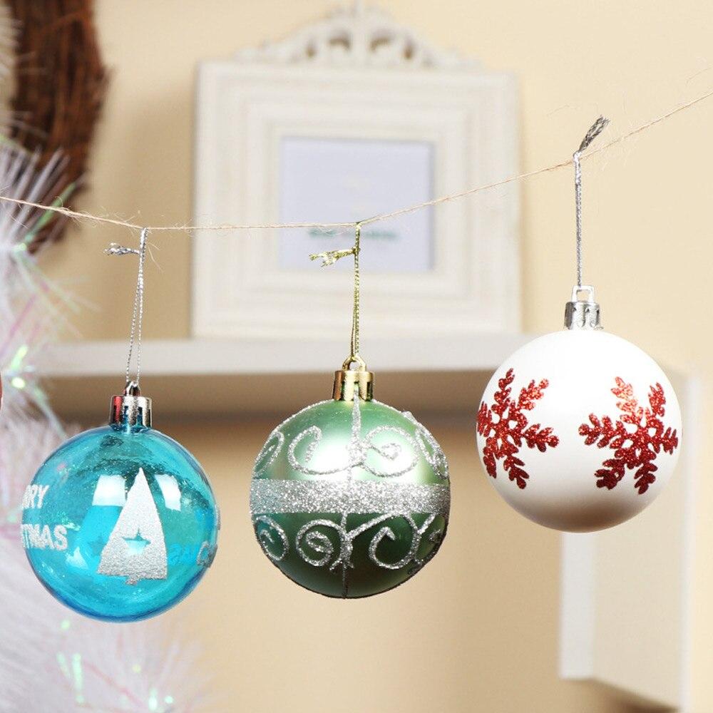 24PCS 6CM Merry Christmas Tree Decoration Balls Xmas Decar Balls Ornaments Party