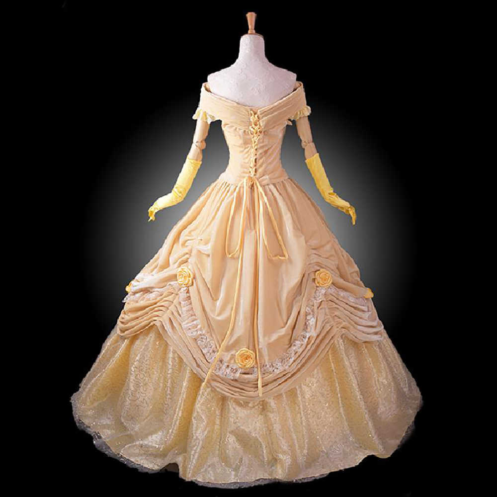 Detail Feedback Questions About Women Princess Belle Dress Up