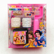 Ariel/Snow White/Belle/Cinderella/Jasmine/Aurora Princess Seal Stamper Toys DIY Kid Birthday Party Supplies Decoration Favor Set