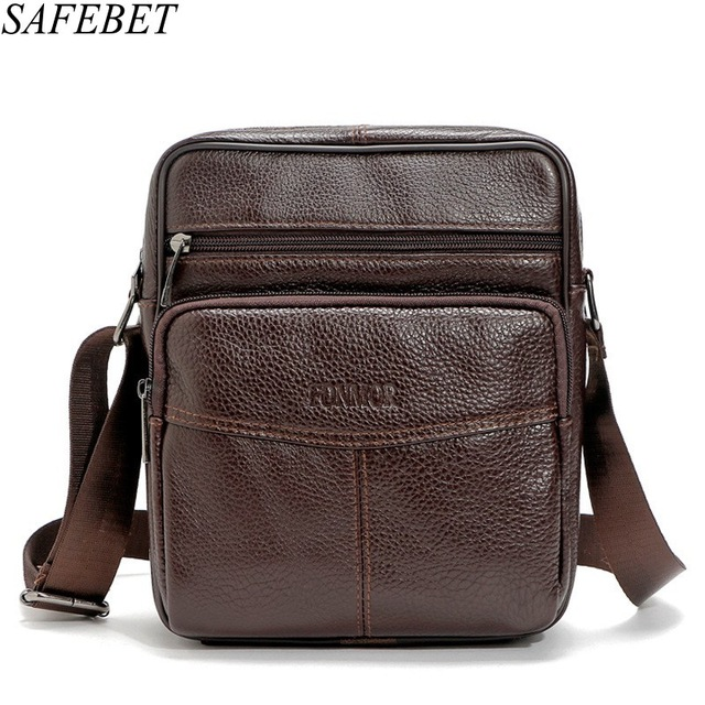 Latest Collection Of Safebet Brand 2017 Promotion Designers Mens Messenger Bags Genuine Leather Vintage Mens Handbag Man Mini Small Square Bag Home