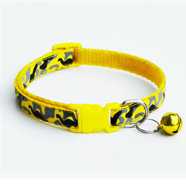 Delicate Safety Casual Nylon Dog Collar Neck Strap Fashion Adjustable Camo Bell Pet Dog Collar Hot Sale 5