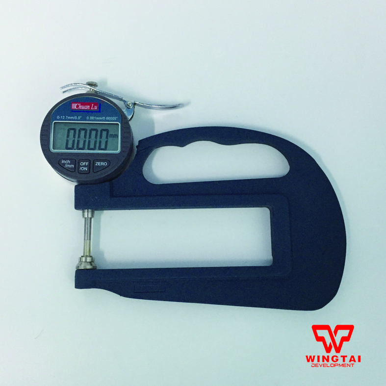 0.001mm Digital  Display Thickness Gauge For Plastic  Film,Paper,Leather exploit high precision 0 01mm profession digital lcd display thickness gauge meter paper leather fabric thickness tester
