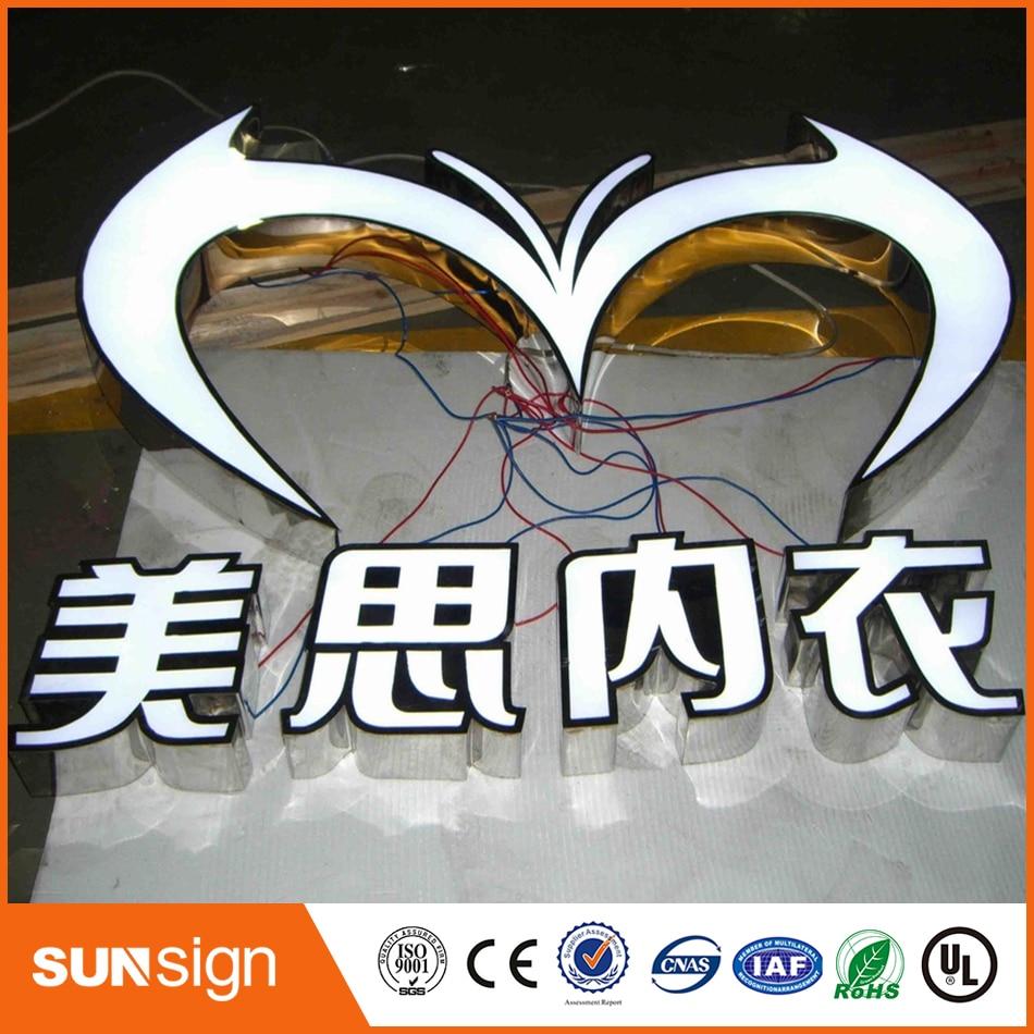 Frontlit Stainless Steel Advertising Led Channel Sign Letter
