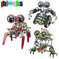IBLOCKS Large Robot Electric Motor Assemblage Stick Blocks Model New Type 3D DIY Building Model Children Learning Education Toys